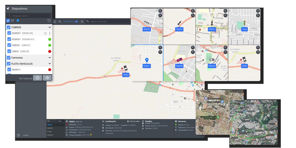 GPS Herramientas de rastreo satelital Deltatracking